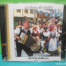CDs de Música: CD ALBUM LA FIESTA DEL PUEBLO. PEPÍN ROBLES. FOLKLORE FOLK ASTURIANO ASTURIAS COMO NUEVO¡¡. Lote 142648218