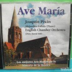 CDs de Música: AVE MARIA - LOS MEJORES DE LA HISTORIA - JOAQUIN PIXAN - FONOMUSIC CD ALBUM 1999 ASTURIAS. Lote 142651890