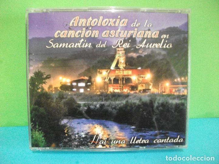 ANTOLOXIA DE LA CANCION ASTURIANA SMARTIN DEL REI AURELIO HAI UNA LLETRA DOBLE CD ASTURIAS PEPETO (Música - CD's Country y Folk)