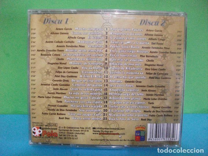 CDs de Música: ANTOLOXIA DE LA CANCION ASTURIANA SMARTIN DEL REI AURELIO HAI UNA LLETRA DOBLE CD ASTURIAS PEPETO - Foto 2 - 142656950