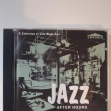 CDs de Música: CD JAZZ AFTER HOURS - A COLLECTION OF LATE NIGHT JAZZ . Lote 142679134