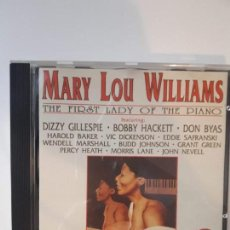 CDs de Música: CD MARY LOU WILLIAMS - THE FIRST LADY OF THE PIANO - 1952-1971 . Lote 142680710