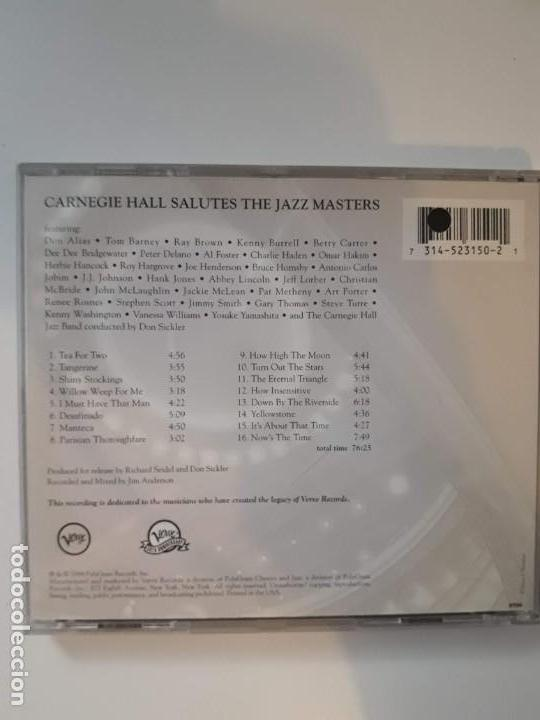 CDs de Música: CD Carnegie Hall Salutes the Jazz Masters - Verve 50th anniversary - Foto 2 - 142680870