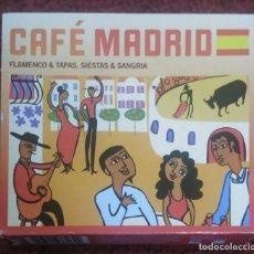 CDs de Música: CAFE MADRID (PACO DE LUCIA, KETAMA, MORENTE, TOMATITO, ANA REVERTE, MANZANITA..) 3 CD'S 2009. Lote 142699438