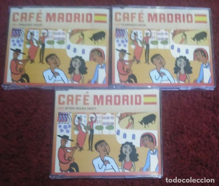 CDs de Música: CAFE MADRID (Paco de Lucia, Ketama, Morente, Tomatito, Ana Reverte, Manzanita..) 3 CD's 2009 - Foto 3 - 142699438