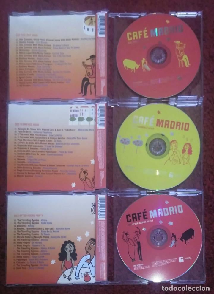 CDs de Música: CAFE MADRID (Paco de Lucia, Ketama, Morente, Tomatito, Ana Reverte, Manzanita..) 3 CD's 2009 - Foto 4 - 142699438