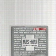 CDs de Música: MAS Y MAS 3 CD + DVD SECRETOS NACHA POP ETC. Lote 142704890