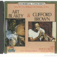 CDs de Música: ART BLAKEY & CLIFFORD BROWN - NEW YORK CITY BIRDLAND CLUB FEBRUARY 21, 1954 - CD GIANTS OF JAZZ 1988. Lote 142748142