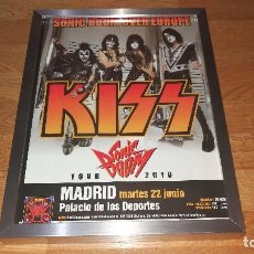 CDs de Música: KISS PROMO POSTER FRAME SONIC BOOM TOUR,MADRID-SPAIN 2010 *RARE* MOTLEY CRUE-IRON MAIDEN-WASP. Lote 142795098