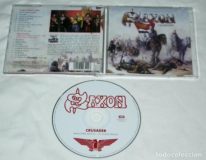 CDs de Música: CD SAXON - CRUSADER - Foto 2 - 142821162