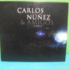 CDs de Música: CARLOS NUÑEZ Y AMIGOS.EN DIRECTO 2004 VIGO...CD + DVD DIGIPACK COMO NUEVO¡¡. Lote 142824026