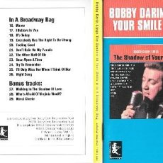 CDs de Música: BOBBY DARIN SINGS THE SHADOW OF YOUR SMILE & IN A BROADWAY BAG. Lote 142915474