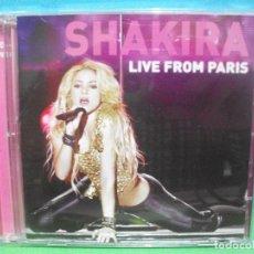 CDs de Música: SHAKIRA LIVE FROM PARIS CD ALBUM +DVD COMO NUEVO¡¡. Lote 142925422