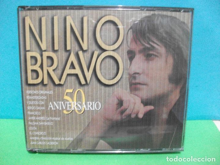 GENIAL DOBLE CD ALBUM NINO BRAVO 50 ANIVERSARIO.VERSIONES ORIGINALES REMASTERIZADAS.Y DUETOS. (Música - CD's Melódica )
