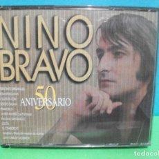 CDs de Música: GENIAL DOBLE CD ALBUM NINO BRAVO 50 ANIVERSARIO.VERSIONES ORIGINALES REMASTERIZADAS.Y DUETOS.. Lote 142925670