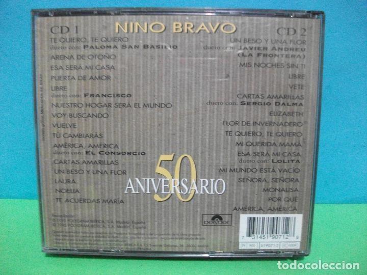 CDs de Música: GENIAL DOBLE CD ALBUM NINO BRAVO 50 ANIVERSARIO.VERSIONES ORIGINALES REMASTERIZADAS.Y DUETOS. - Foto 2 - 142925670