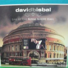 CDs de Música: DAVID BISBAL - LIVE AT THE ROYAL ALBERT HALL - CD + DVD EDICIÓN LIMITADA DIGIPACK COMO NUEVO¡ PEPETO. Lote 142926298