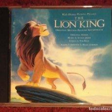CDs de Música: B.S.O. THE LION KING - EL REY LEON - WALT DISNEY (B.S.O. EN INGLES) CD 1994 - ELTON JOHN. Lote 143009454