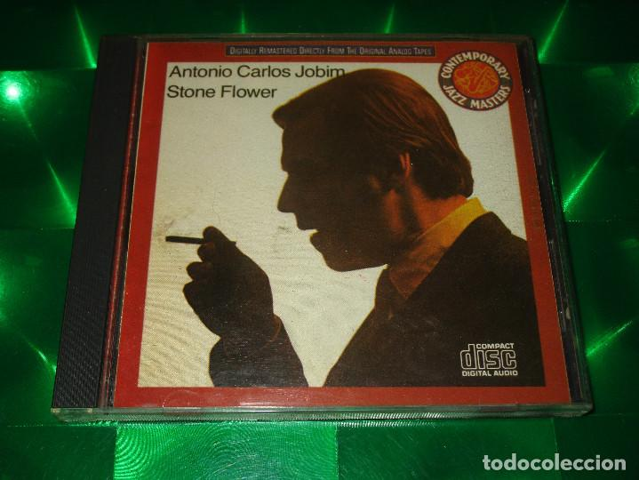 CDs de Música: ANTONIO CARLOS JOBIM ( STONE FLOWER ) - CD - 771.005/2-467946 - COLUMBIA - CONTEMPORARY JAZZ MASTERS - Foto 2 - 143057878