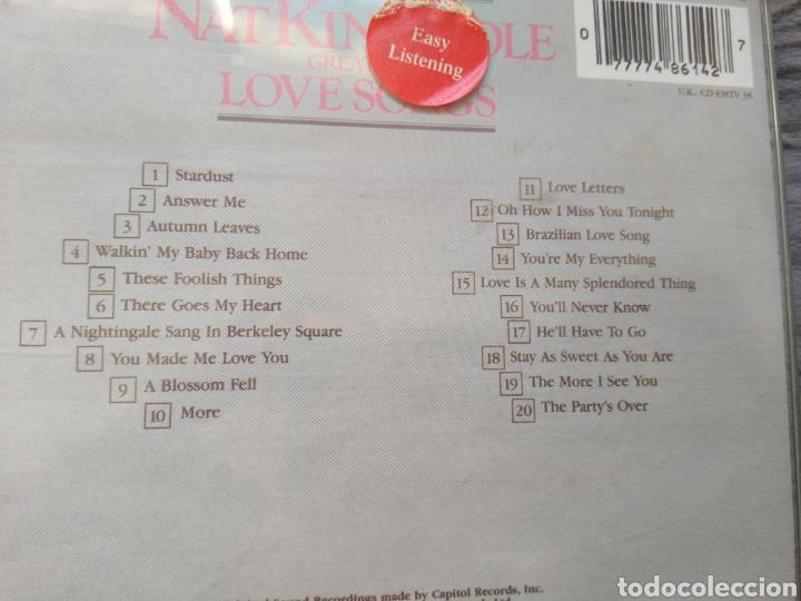 CDs de Música: Nat King Cole - Greatest love songs - Cd album - Foto 3 - 143143645