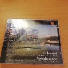 CDs de Música: SCHUBERT (SYMPHONY NO. 5 IN B FLAT MAJOR, D. 485) MENDELSSOHN (SYMPHONY NO. 4 IN A MAJOR, OP. 90) CD. Lote 143351186