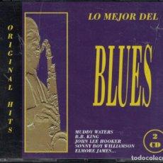 CDs de Música: CD - LO MEJOR DEL BLUES - VARIOS (CAJA CON 2 CD'S). Lote 143354610