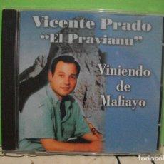 CDs de Música: ASTURIAS - VICENTE PRADO EL PRAVIANU - SPAIN CD DOBLON 2003 - VINIENDO DE MALIAYO - NUEVO PEPETO. Lote 143571618