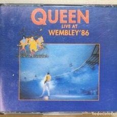 CDs de Música: CD MÚSICA CANCIONES. QUEEN. LIVE AT WEMBLEY 86. DOS DOBLE CD. 13+15 CANCIONES 1992. EMI. Lote 143591006