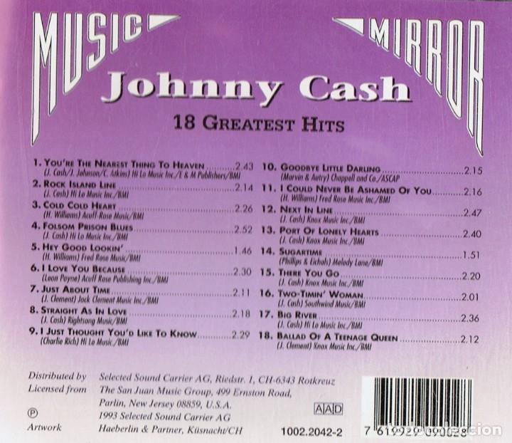 CDs de Música: JOHNNY CASH 18 GREATEST HITS (CD) - Foto 2 - 143602902