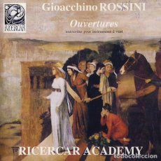 CDs de Música: GIOACCHINO ROSSINI, RICERCAR ACADEMY – OUVERTURES . Lote 143603098