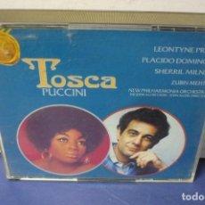 CDs de Música: TOSCA DE PUCCINI CON PRICE- DOMINGO Y MILNES. Lote 143610710
