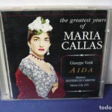CDs de Música: AIDA DE VERDI MARIA CALLAS - MARIO DEL MONACO- GRAB 1951. Lote 143611702