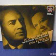 CDs de Música: HELGE ROSWAENGE Y HILDE KONETZNI OPERA ARIAS. Lote 143612150