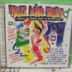 CDs de Música: FELIZ AÑO NUEVO BAILES DE SALON PARA LA NOCHEVIEJA DOBLE CD ALBUM NUEVO¡¡ PEPETO. Lote 143614578