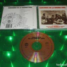 CDs de Música: CANCIONES DE LA GUERRA CIVIL - CD - 96332 - DIAL DISCOS - EL QUINTO REGIMIENTO - LA PLAZA DE TETUAN. Lote 143623498