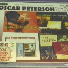 CDs de Música: OSCAR PETERSON - THREE CLASSIC ALBUMS PLUS - 2XCD PRECINTADO. Lote 143639898