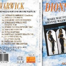 CDs de Música: DIONNE WARWICK - MAKE WAY FOR DIONNE WARWICK / THE SENSITIVE SOUND OF DIONNE WARWICK. Lote 143704618