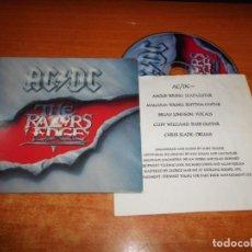 CDs de Música: AC/DC THE RAZORS EDGE CD ALBUM PORTADA CARTON DEL AÑO 1990 EU CONTIENE 12 TEMAS AC DC RARO. Lote 143753570
