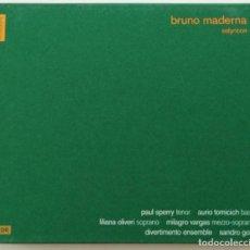 CDs de Música: BRUNO MADERNA: SATYRICON. SANDRO GORLI. (MUY RARO. DESCATALOGADO).. Lote 143769590