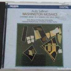 CDs de Música: SALLINEN: WASHINGTON MOSAICS. THE NOCTURNAL DANCES OF DON JUANQUIXOTE. (MUY RARO. DESCATALOGADO).. Lote 143769870
