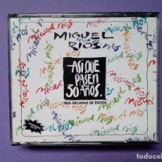 CDs de Música: MIGUEL RÍOS - ASÍ QUE PASEN 30 AÑOS (DOBLE CD, 1992). Lote 143817150
