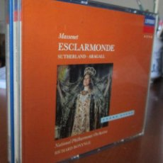 CDs de Música: ESCLARMONDE - JOAN SUTHERLAND, HUGUETTE TOURANGEAU, CLIFFORD GRANT, GIACOMO ARAGALL, 2CD. Lote 143852458