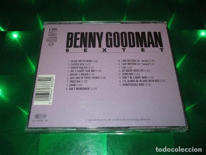 CDs de Música: BENNY GOODMAN SEXTET (SLIPPED DISC 1945-1946) - CD - CBS 463337 2 / (01-463337-10) - Foto 3 - 143906330