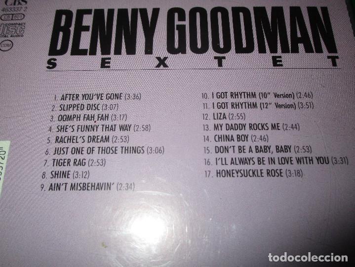 CDs de Música: BENNY GOODMAN SEXTET (SLIPPED DISC 1945-1946) - CD - CBS 463337 2 / (01-463337-10) - Foto 4 - 143906330