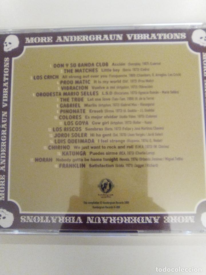 CDs de Música: MORE UNDERGRAUN VIBRATIONS 2009 PIÑONATE LOS CRICH COLORES GOYA RISCOS LUIS QUEIMADA FRANKLIN NORAH - Foto 2 - 143936198