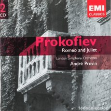 CDs de Música: SERGEI PROKOFIEV - THE LONDON SYMPHONY ORCHESTRA, ANDRE PREVIN - ROMEO AND JULIET (DOBLE CD). Lote 143952584