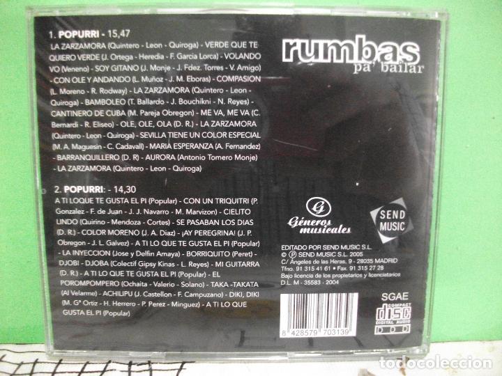 CDs de Música: Rumbas para Bailar Mix 2 POPURRI + 30 MINUTOS DE MUSICA NON STOP CD ALBUM COMO NUEVO¡¡ PEPETO - Foto 2 - 143995470