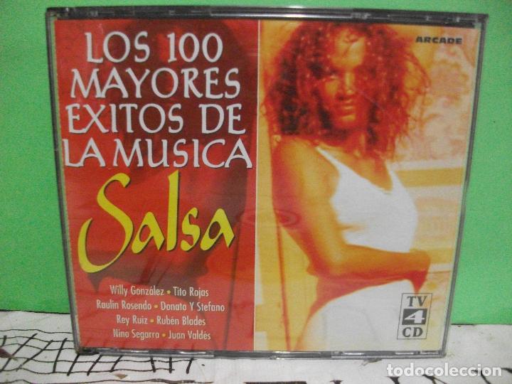 LOS 100 MAYORES EXITOS DE LA MUSICA SALSA 4 X CD ALBUM ARCADE NUEVO¡¡ PEPETO (Música - CD's Latina)