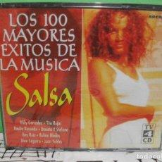 CDs de Música: LOS 100 MAYORES EXITOS DE LA MUSICA SALSA 4 X CD ALBUM ARCADE NUEVO¡¡. Lote 143997426