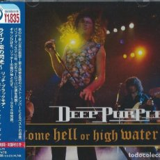 CDs de Música: DEEP PURPLE CD COME HELL OR HIGH WATER , ORIG. PRESS JAPAN /OBI + 2 BOOKS - LED ZEPPELIN. Lote 144054382